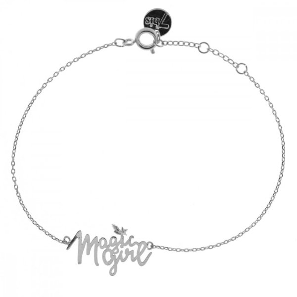 370459ARG Bracelet Magic Girl Argenté Natachabirds Message