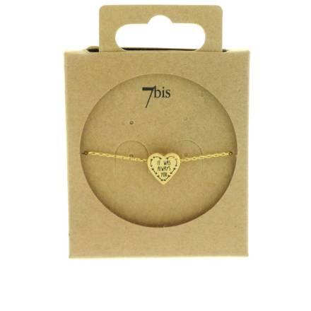 370557DOR Bracelet It-was-always-you Doré Message Imprimé