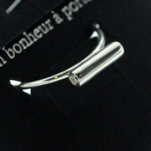 871500ARG15 Bague Barre Horizontal Argent 925 Taille Unique Délicat