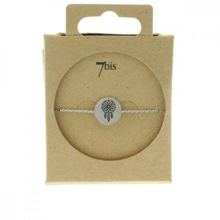 370551ARG Bracelet Dreamcatcher Argenté Médaille Imprimé