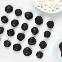 Cookies and cream lumps of coal