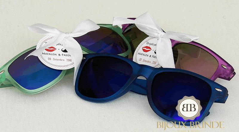 Óculos de sol: lembranças de casamento Mafalda + Frederic
