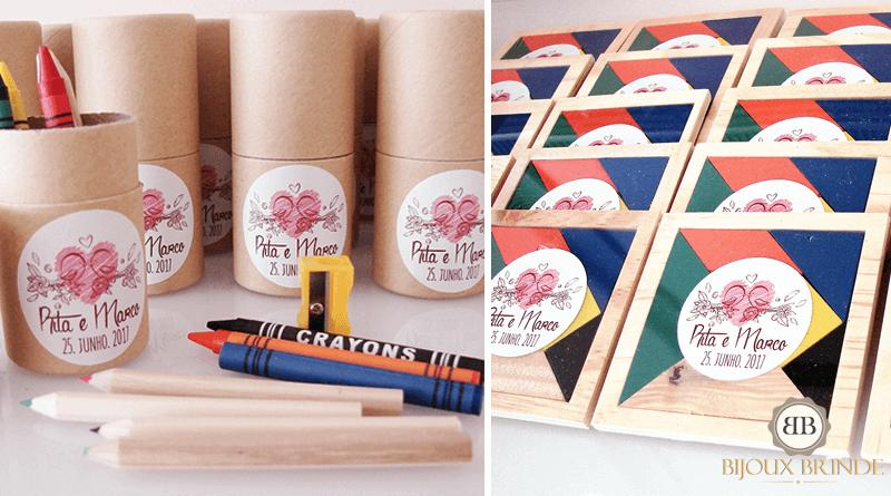 Lápis de cor, tangran para crianças: Rita + Marco