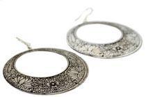 Boucles d'oreilles anneaux argenté tribales