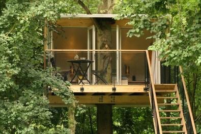 Bijzondere Overnachting Slapen in een boomhut Buytenplaets Suydersee5