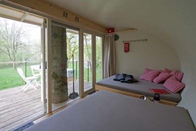 Bijzondere Overnachting Slapen in een boomhut Buytenplaets Suydersee6