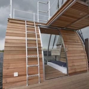 Origineel Overnachten Bijzondere Overnachting Slapen op een ecolodge woonboot in de Biesbosch6