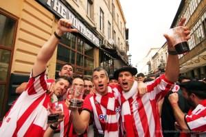 Vrijgezellenweekend naar een internationale voetbalwedstrijd
