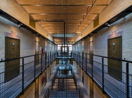Voormalig gevangenis Alibi Hostel in Leeuwarden