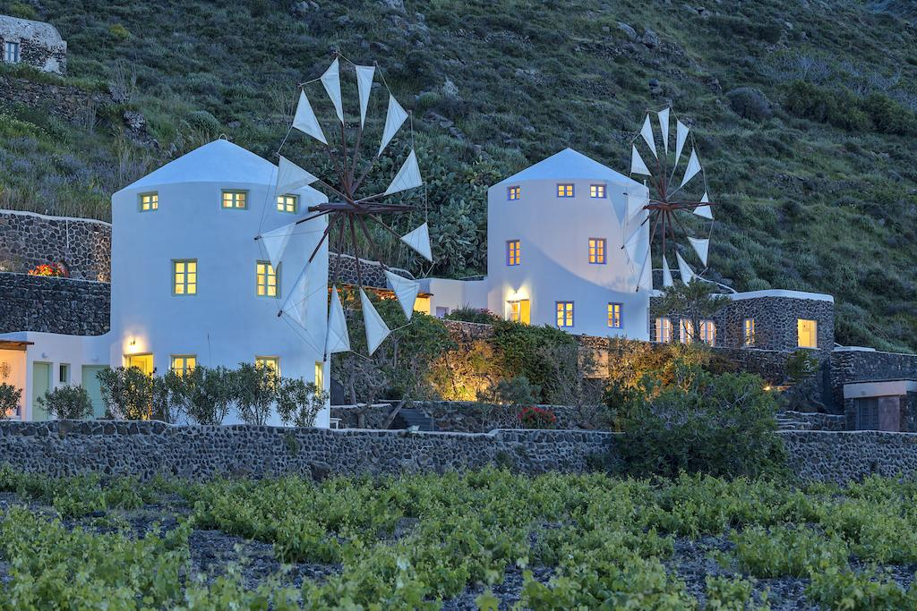 Windmolen op Santorini Griekenland