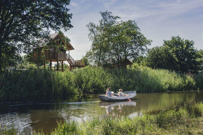 Glamping in een boomhut op vakantiepark Molke in Twente 10