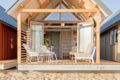 Bijzondere Overnachting Slapen op het strand in een strandhuisje noordzee resort vlissingen-beachhouses-5