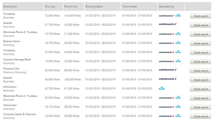 KLM Flying Blue Promo Rewards