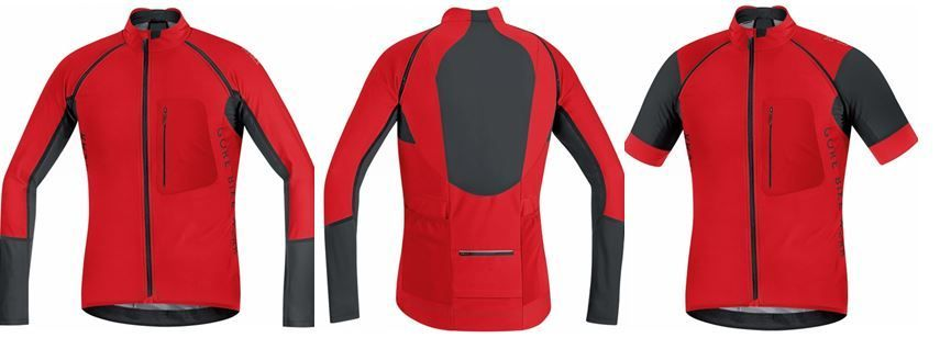 Maillot Gore Bike Wear PRO ALP-X Windstopper - Convertible