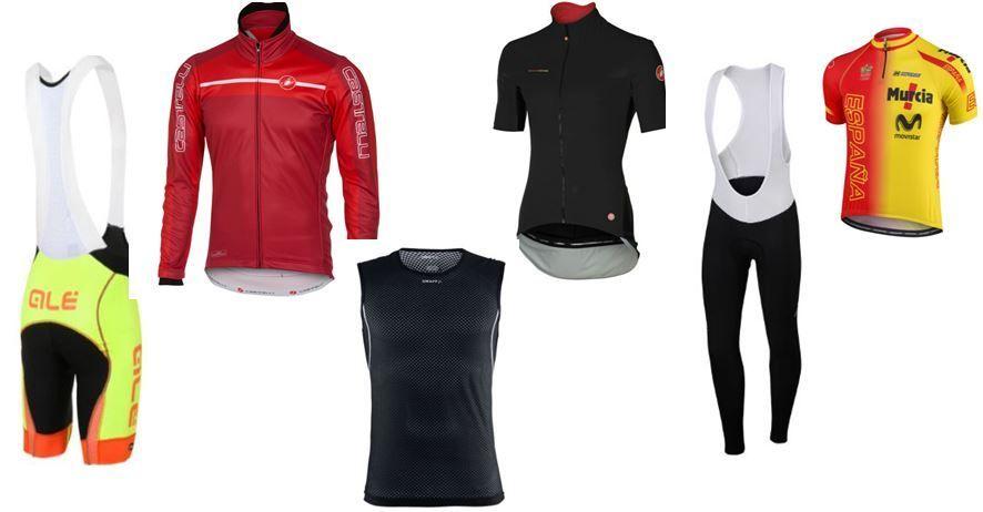 Descuentos y ofertas en Ropa Ciclista : Culottes, Maillot, Chaquetas ...