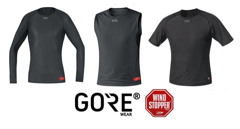 Negro 100325 GORE Wear Camiseta interior cortavientos de hombre M