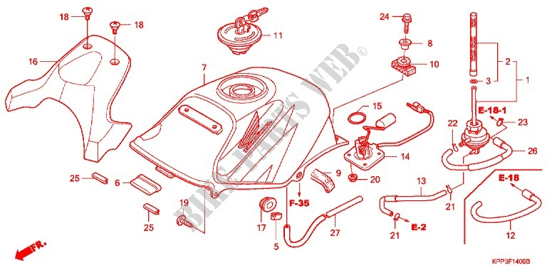 For Honda Cbr 150 M 2003