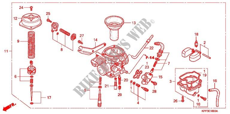 For Honda Cbr 150 M Red 2004