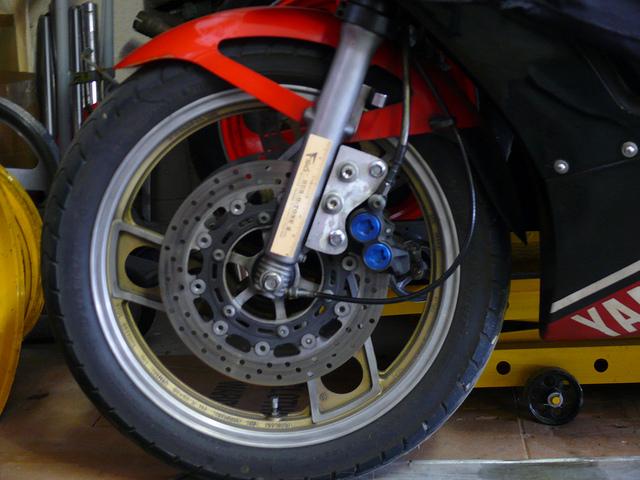 Brake Set and Rotors from a Yamaha R1
