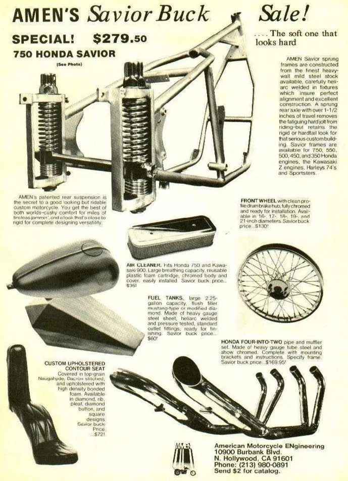 AMEN Framed – 1973 Honda CB Chopper   Bike-urious