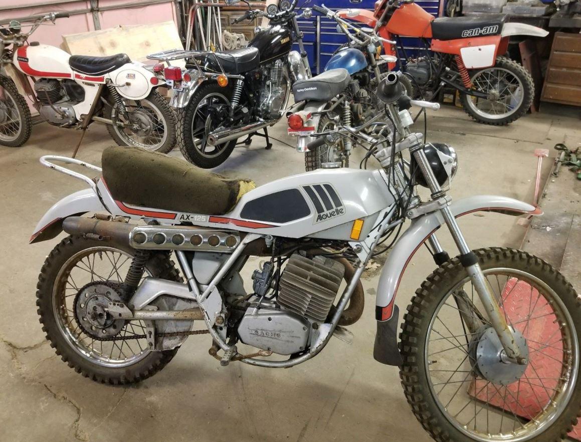 Rare Project 1973 Alouette Ax125 Bike Urious