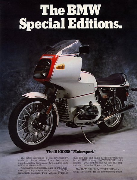 BMW R100RS Motorsport - ad