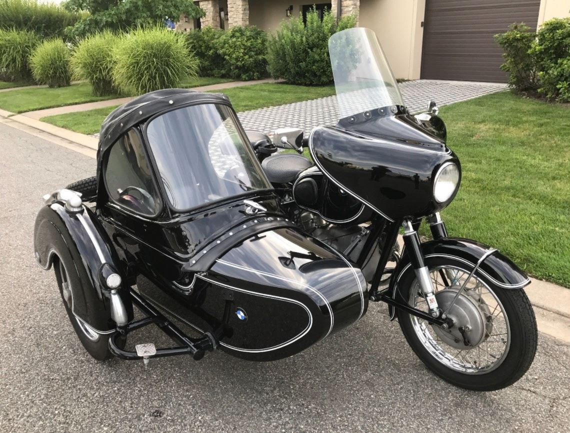 1961 Bmw R50 2 With Steib Tr500 Sidecar Bike Urious Front Wheel Bikes