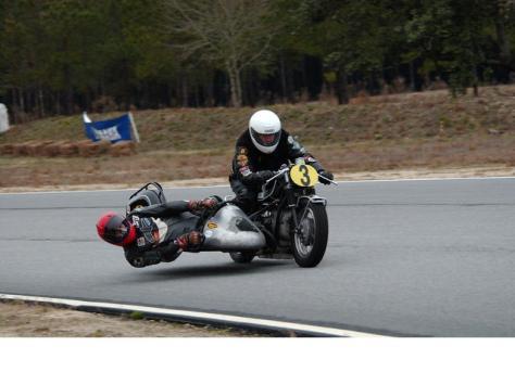 BMW R672 Sidecar Racer - Racing