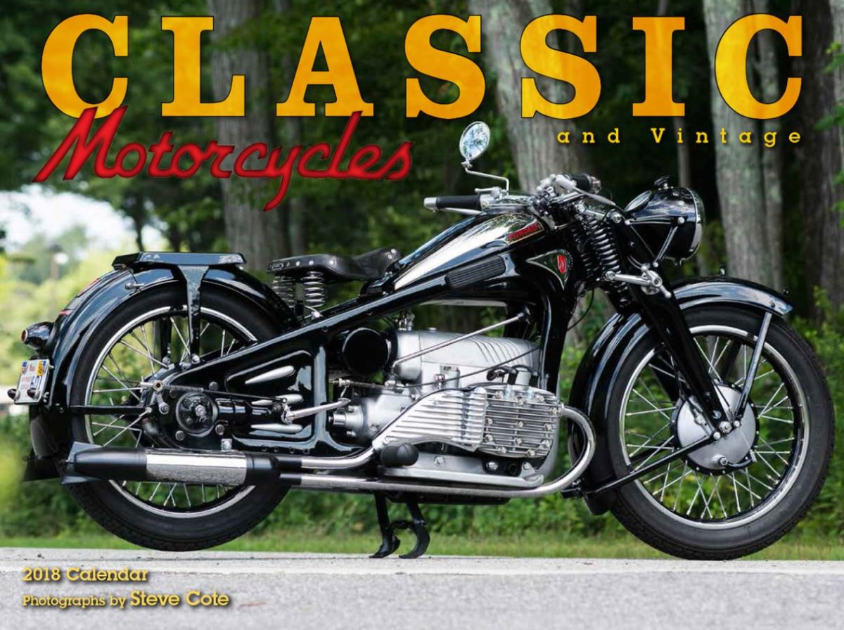 Gift Intermission - 2018 Classic/Vintage Motorcycle Calendar