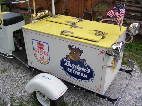Cushman Ice Cream Scooter - Storage
