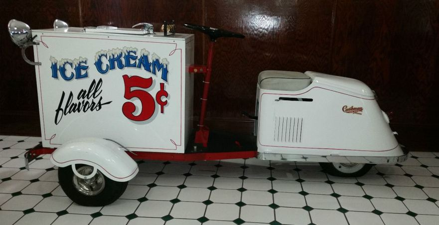 1947 Cushman Ice Cream Vendor Bike Urious
