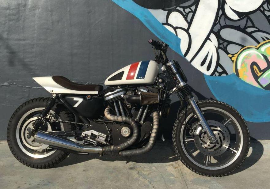 Custom Street Tracker – 2003 Harley-Davidson 883R | Bike-urious
