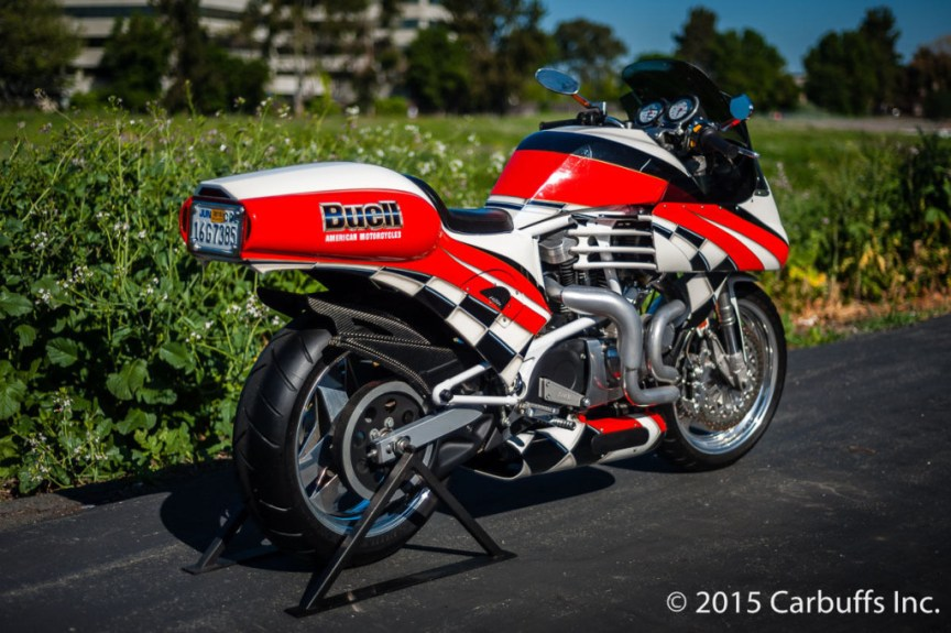 Dron Mk. I Concept Bike - Buell S1 White Lightning - Right Rear
