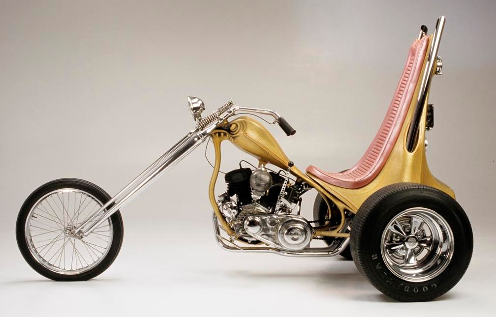 Tall Trike 1960 Harley Davidson Servicar Custom Bike