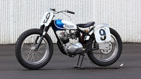 Gary Nixon Triumph Racer  - Left Side