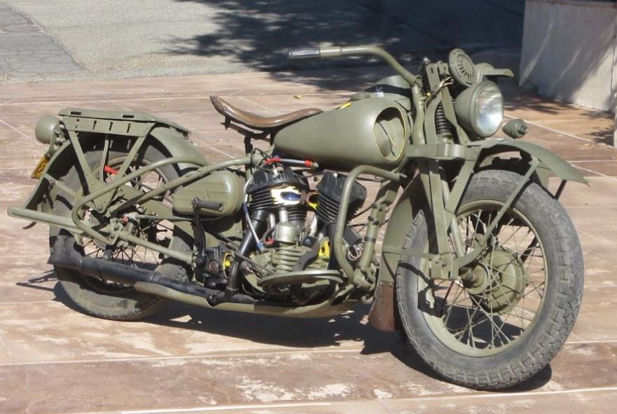 military cutaway 1942 harley davidson wla bike urious. Black Bedroom Furniture Sets. Home Design Ideas