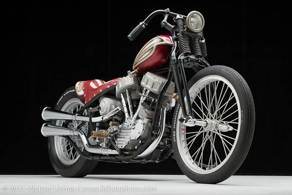 Harley Panhead Custom - Front Side
