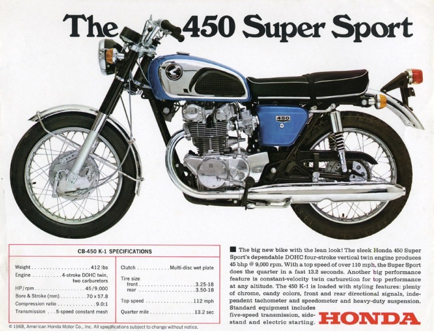 Honda CB450 K1 - Vintage Ad