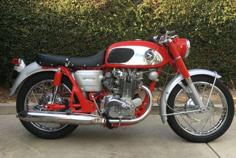 rare in red 1966 honda cb450 bike urious. Black Bedroom Furniture Sets. Home Design Ideas