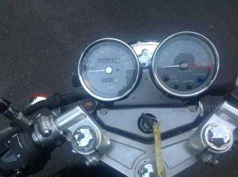 Honda GB500 - Cockpit