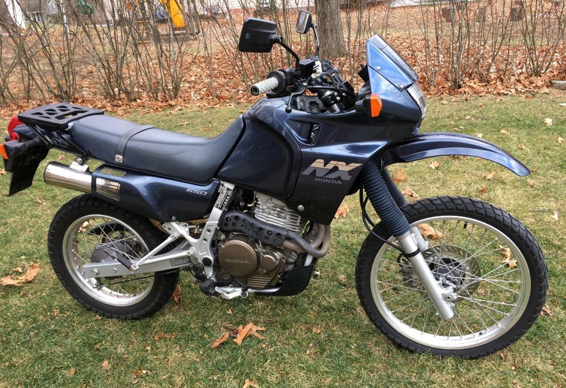 1989 honda nx650 dominator bike urious. Black Bedroom Furniture Sets. Home Design Ideas