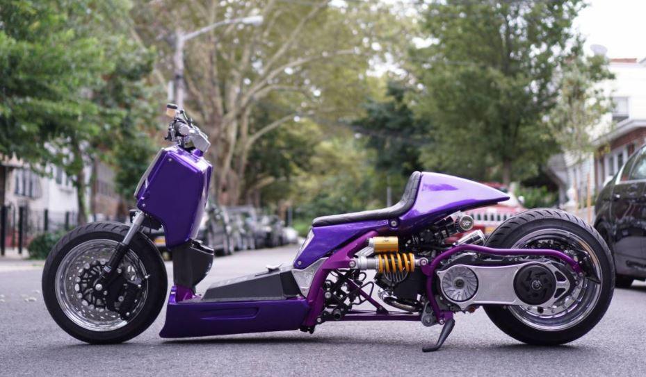 Zuma Powered Composimo Built Custom Honda Ruckus Bike