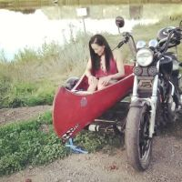 1985 Honda Shadow 1100 with Boat Sidecar