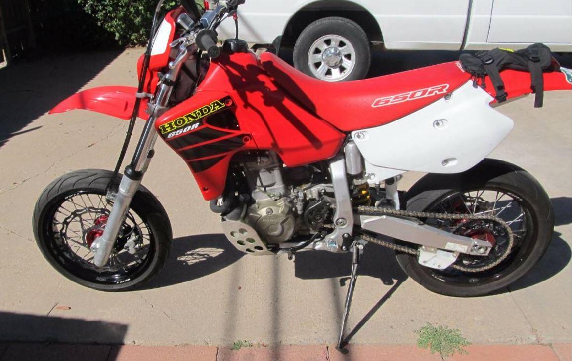 Honda 650 Dual Sport Horsepower >> 2001 Honda XR650R Supermoto | Bike-urious