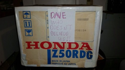 Honda Z50 Christmas Specials - Box
