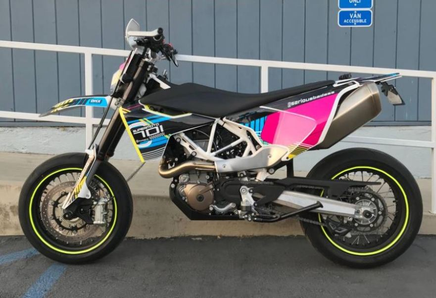 well modified 2018 husqvarna 701 supermoto bike urious. Black Bedroom Furniture Sets. Home Design Ideas