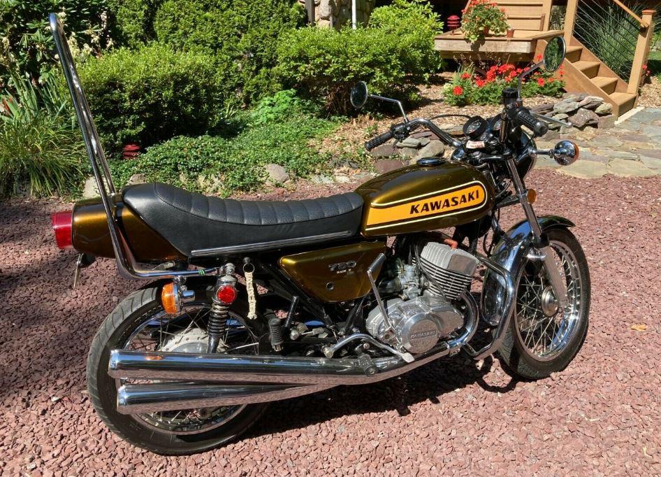 Original Owner 1974 Kawasaki H2 750 Mach Iv Bike Urious