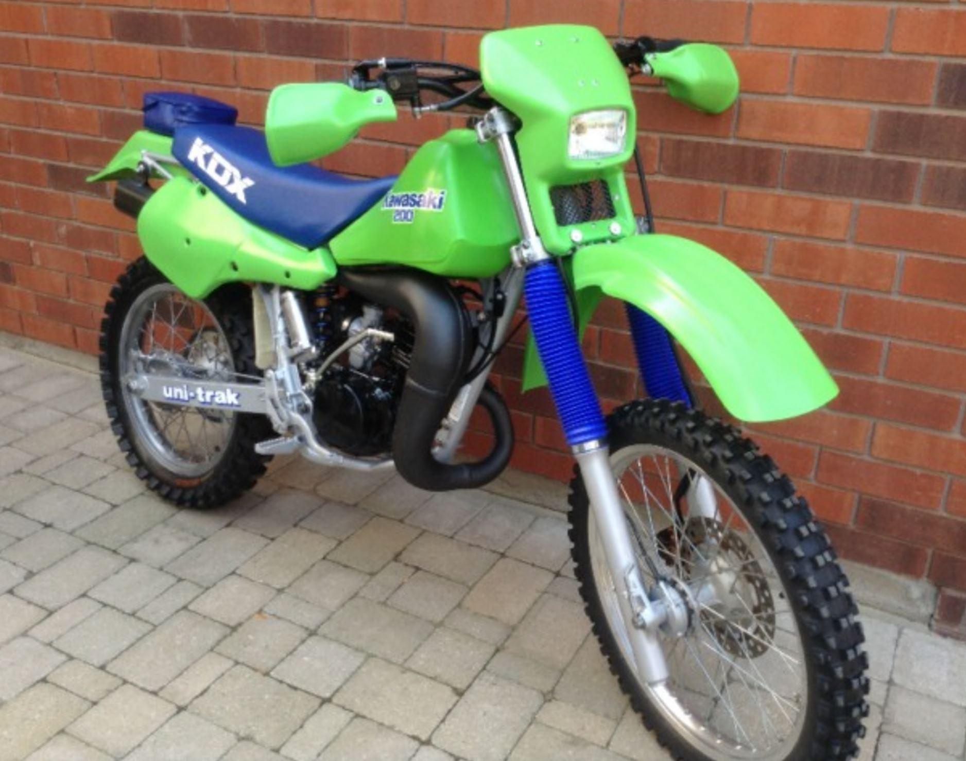 Kawasaki Kdx 200 Wiring Diagram Library Yamaha Yl2 Restored 1987 Kdx200 Bike Urious Rh Com 1989 1990