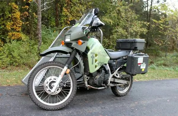 Kawasaki KLR650 with Sidecar - Front Left