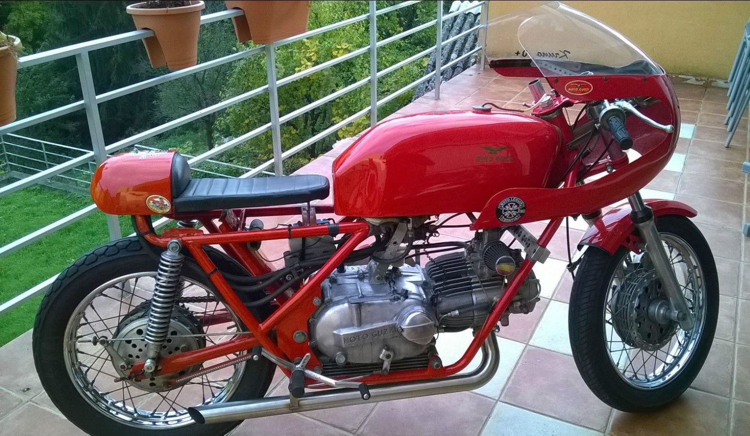 in croatia 1971 moto guzzi nuovo falcone racer bike urious. Black Bedroom Furniture Sets. Home Design Ideas